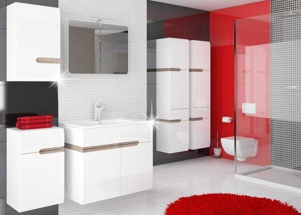 Kúpeľňový nábytok Lynatet v bielom lesku