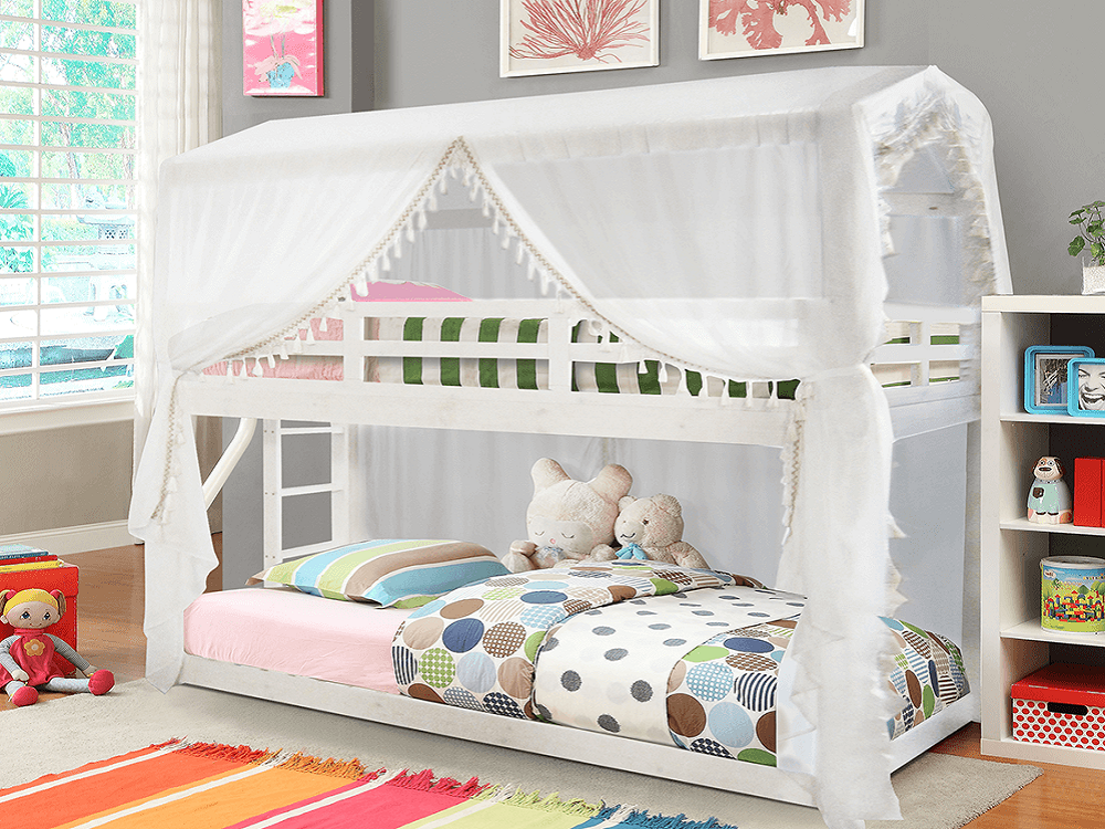 Montessori posteľ Zefire so závesom