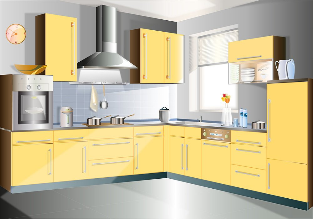 Kuchyňa zladená do žlta