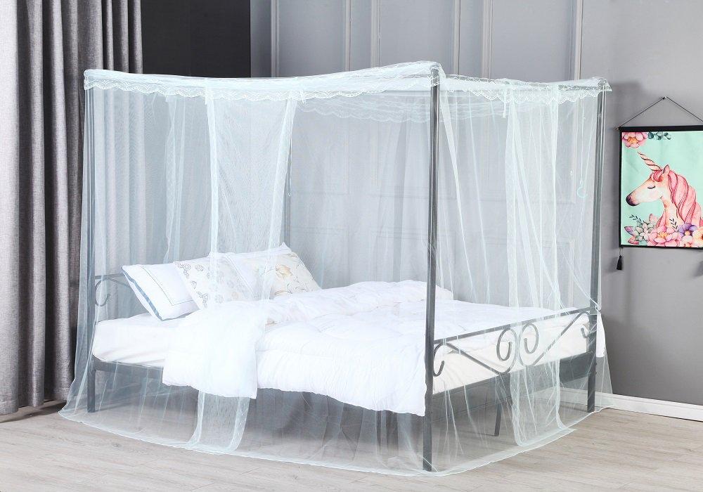 Baldachýnová posteľ Abena so závesom
