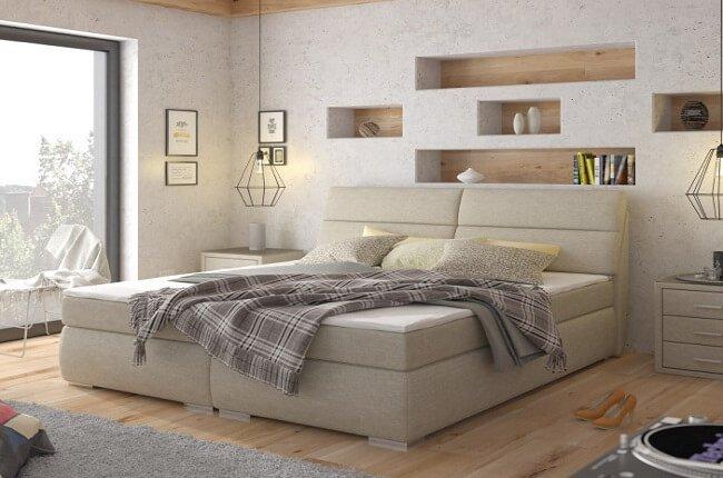 Manželská boxspringová posteľ Odysea