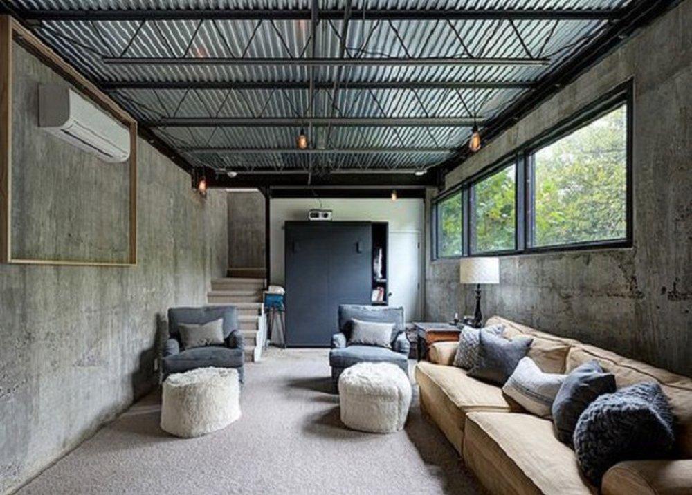 Obývačka v urbanistickom štýle