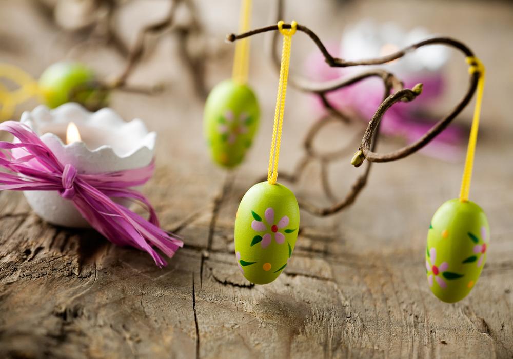 Zavesené veľkonočné vajíčka