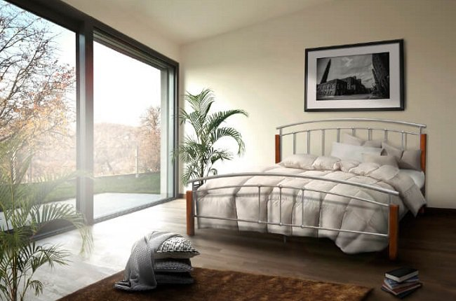 Kovová posteľ Mirela
