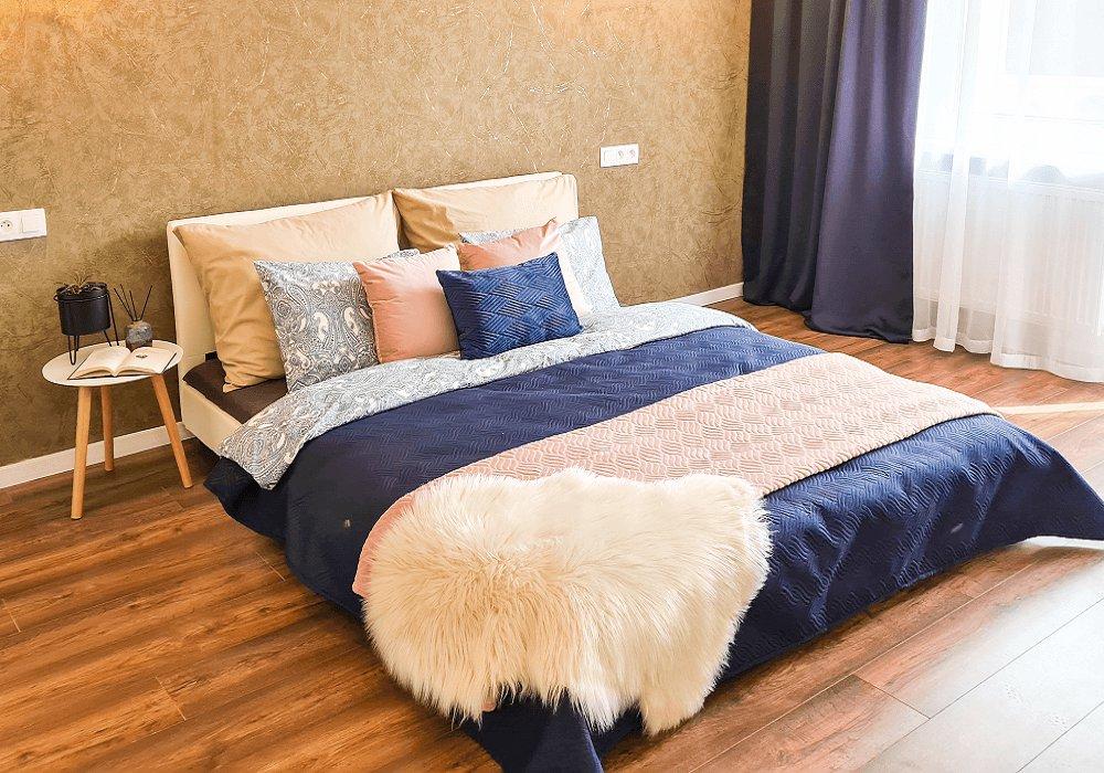 Ágykeret, fehér textilbőr, 160x200, DANETA