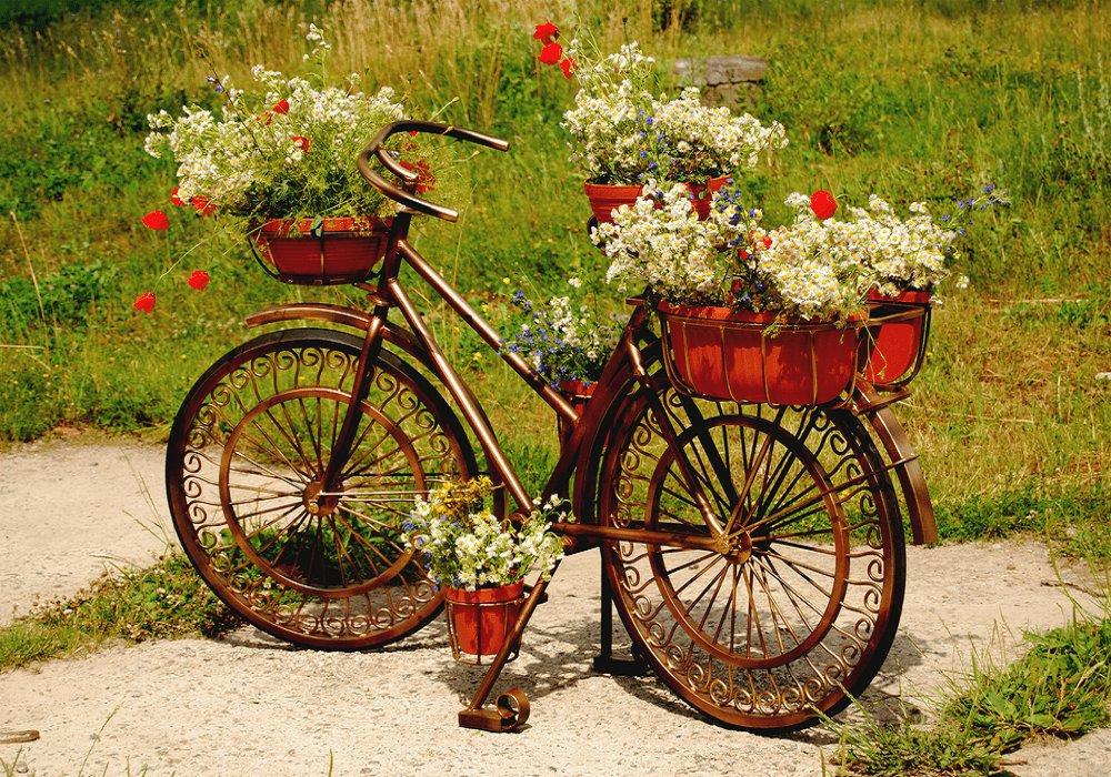 Starý bicykel ako kevtináč