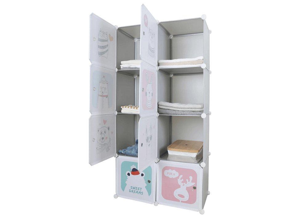 Detská modulárna skriňa, sivý/detský vzor, ATREY