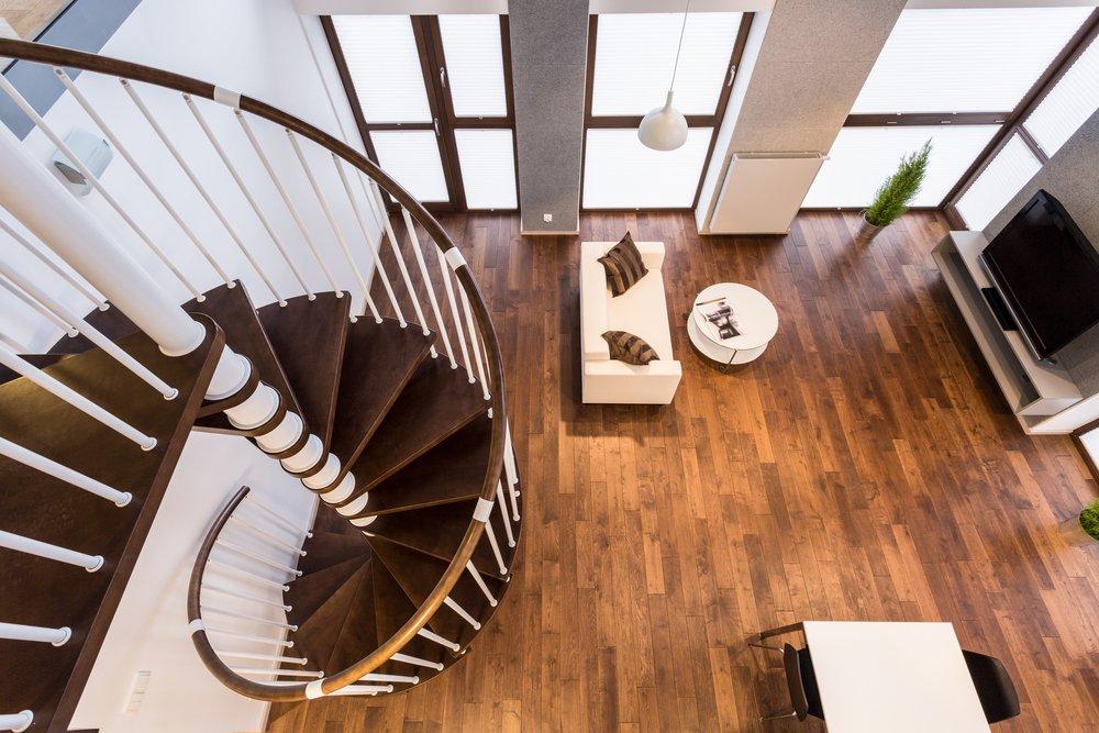 Točité schody do podkrovia