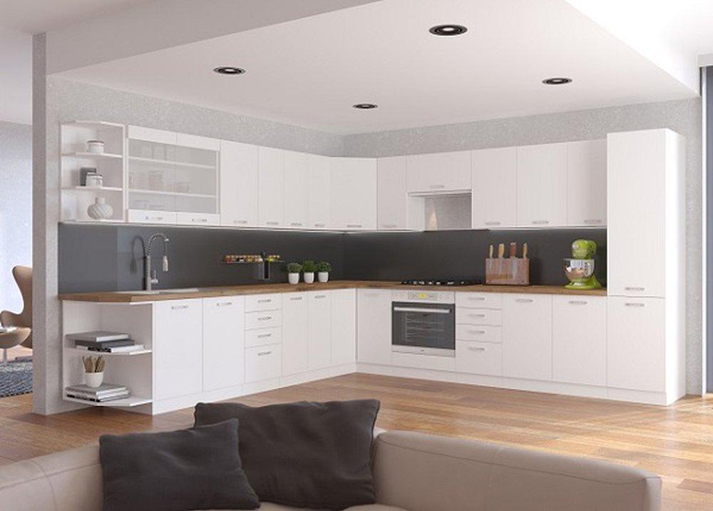 Kuchynská linka Split v bielej farbe