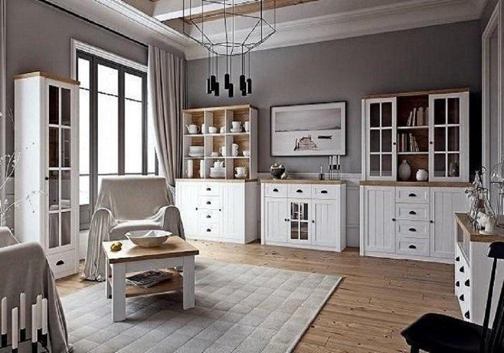 Obývačka s nábytkom v provensálskom štýle