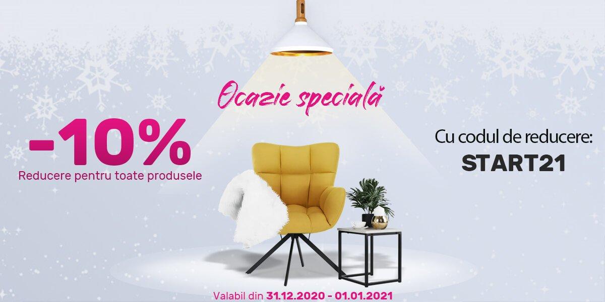 Reducere de 10% pe tot sortimentul pe www.tempomobila.ro