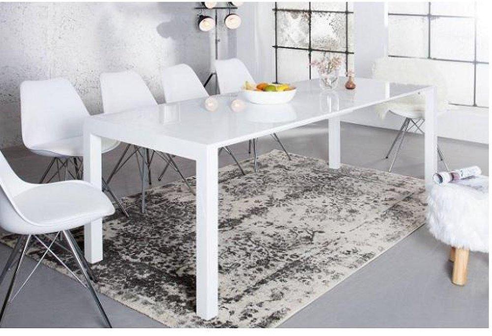 Rozkladací stôl Asper biely