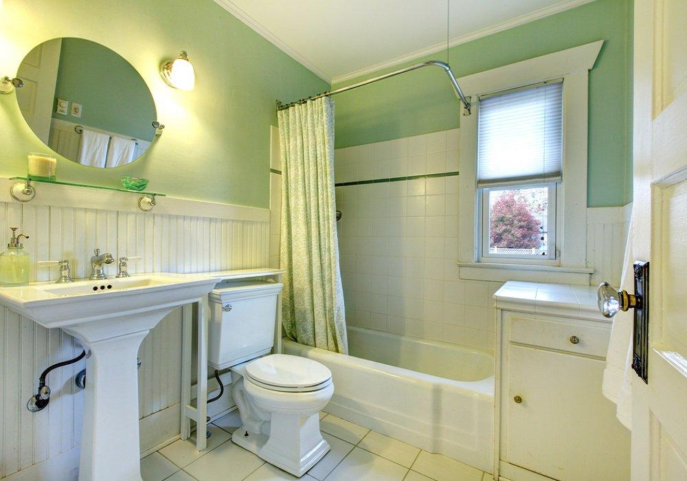 Kúpeľňa a doplnky v mintovej farbe
