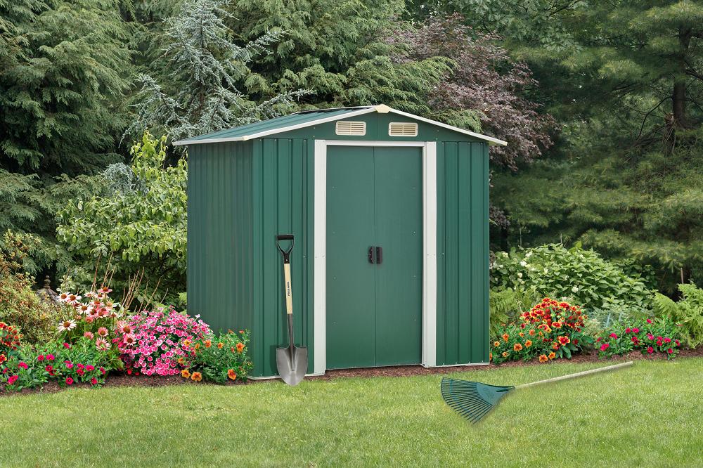 Záhradný domček Hamal zelený
