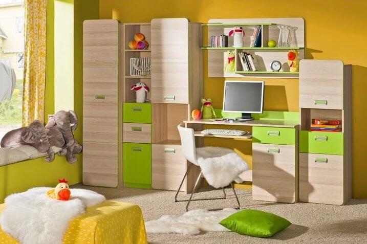 Písací stôl Ego L10 jaseň/zelená