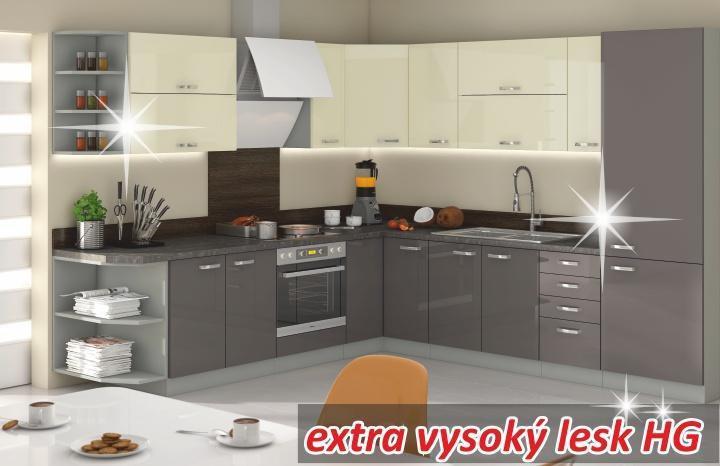 Kuchynská linka Prado sivá/krémová