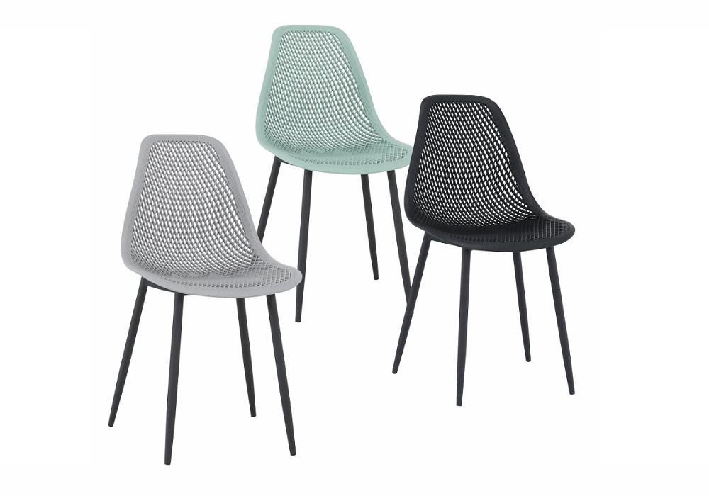 Jedálenské stoličky Tegra v modernom dizajne v troch farbách mentolová, sivá, čierna