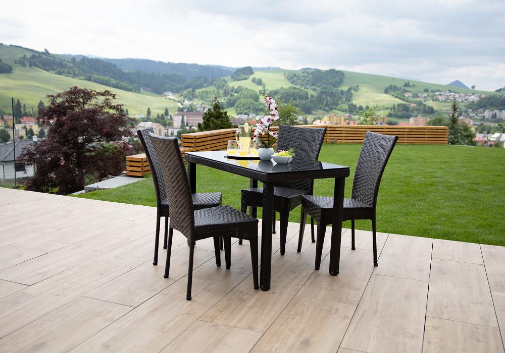 Záhradný set Toven, stôl a stoličky
