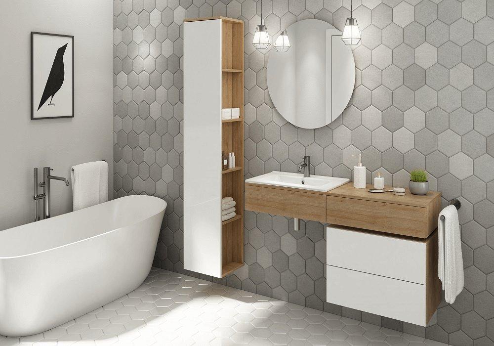 Kúpeľňový sektor Kiara biela a dub