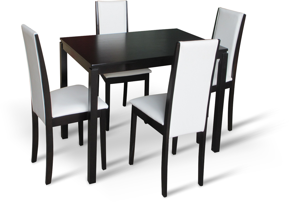 Jedálenský set Venis 1+4, stôl a stoličky