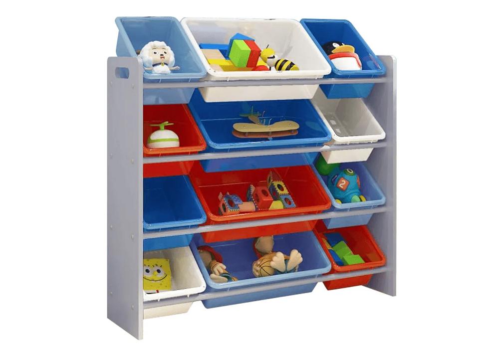 Organizator de jucării, multicolor / gri, KIDO TYPE 1