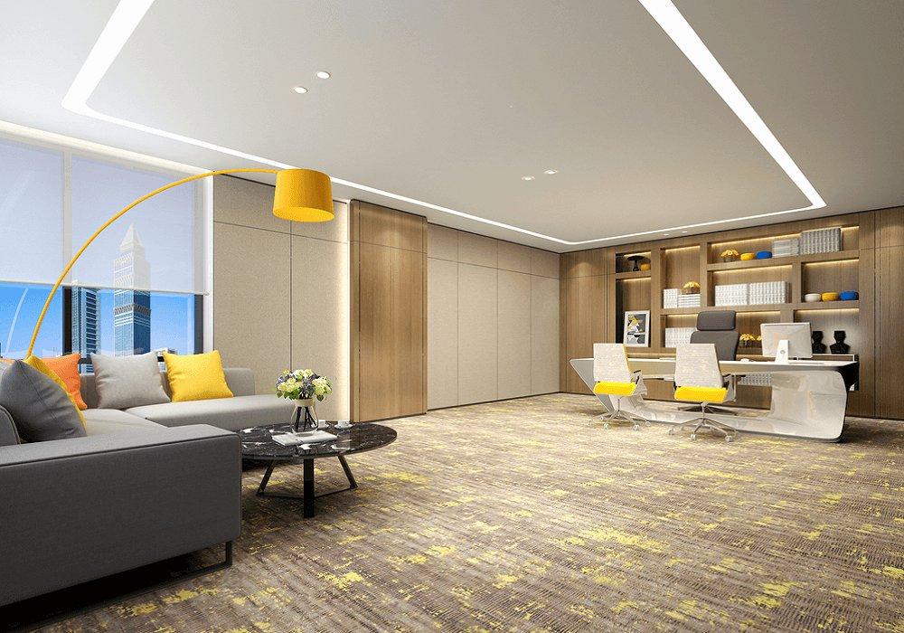 Žltá farba Illuminating a sivá farba Grey v interiéri