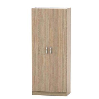 2-dverová skriňa, vešiaková, poličková, dub sonoma, BETTY 2 BE02-003-00