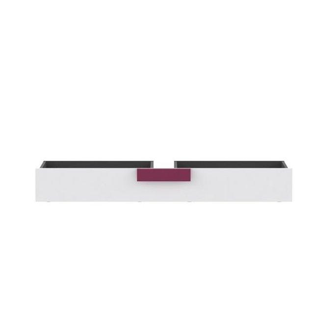 Úložný priestor pod posteľ, sivá/biela/fialová, LOBETE 83