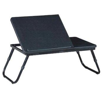 Stolík na notebook/držiak na tablet, čierna, EVALD