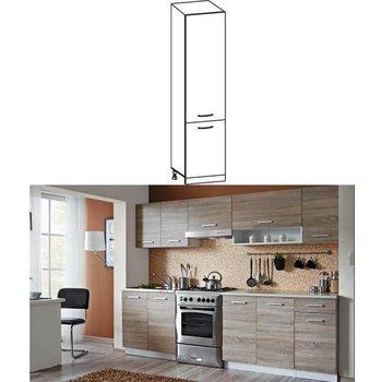 Potravinová skrinka do kuchyne, dub sonoma/biela, CYRA NEW S-50