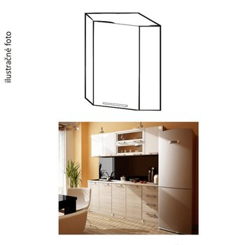 Kuchynská skrinka, biely lesk, ITA NEW GN-60