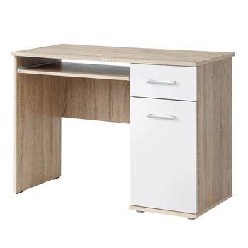 PC stôl, dub sonoma/biela, EMIO TYP 6
