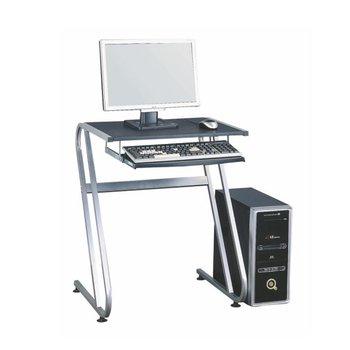 PC stôl, čierna+strieborná, JOFRY