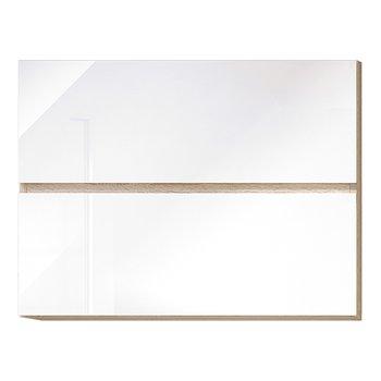 Horná skrinka G 80 U, vysoký biely lesk/dub sonoma, LINE