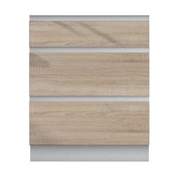 Dolná skrinka D 60S3, dub sonoma/biela, LINE