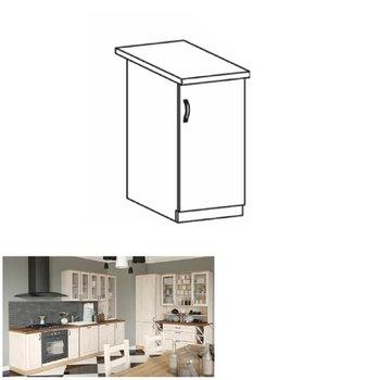 Spodná skrinka, biela/sosna nordická, pravá, ROYAL D40