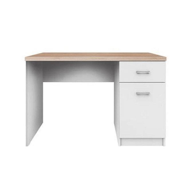 PC stôl 1D1S Topty 09, biela/dub sonoma, rozbalený tovar