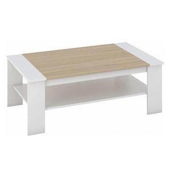 Konferenčný stolík, biela/dub sonoma, BAKER