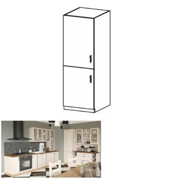 Vysoká skrinka, biela/sosna nordická, ľavá, ROYAL D60R