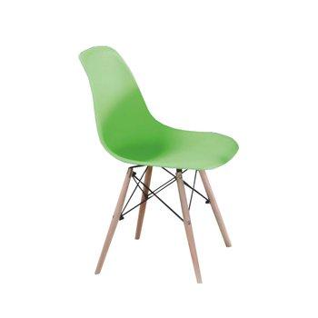 Stolička, zelená/buk, CINKLA 2 NEW, rozbalený tovar