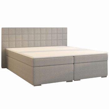 Boxspringová posteľ, 180x200, sivá, NAPOLI KOMFORT