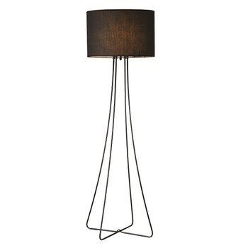 Stojacia lampa, čierny kov/látka, CINDA TYP 12 F4813