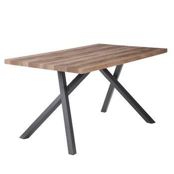 Jedálenský stôl, čierna/svetlá slivka, GURDUN, rozbalený tovar