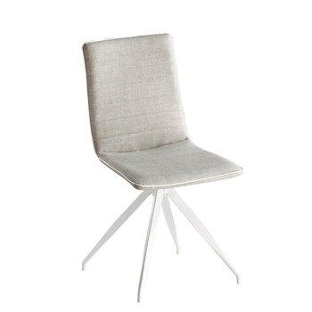 Stolička, svetlosivá/biela, BAHIRA, rozbalený tovar