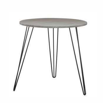 Príručný stolík, dub/čierna, KALEB
