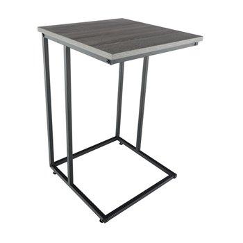 Príručný stolík, dub/čierna, KALA, poškodený tovar