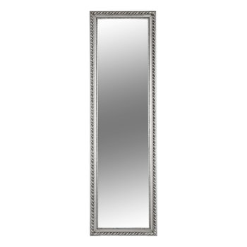 Zrkadlo, drevený rám striebornej farby, MALKIA TYP 5