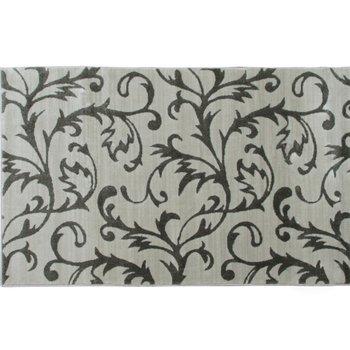 Koberec, krémová/sivý vzor, 100x150, GABBY