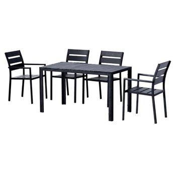 Jedálenský set 1+4, čierna, GURDUK