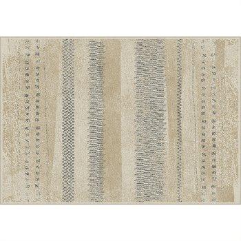 Koberec, béžová/vzor, 100x140, AVALON, rozbalený tovar